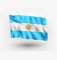flag argentina vector image vector image