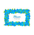 flower frame rectangular wreath with blossoms vector image vector image