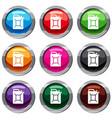 fuel jerrycan set 9 collection vector image vector image