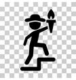 gentleman leader icon vector image vector image
