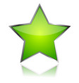 glass green star icon vector image