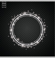 glow light effect circular lens flare abstract vector image vector image