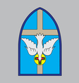 Holyspirit window vector image vector image