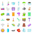 house thing icons set cartoon style vector image vector image