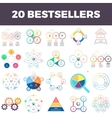 Infographic elements with 3 4 5 6 7 steps vector image