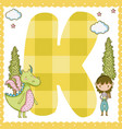k alphabet letter for kids vector image