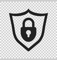 lock with shield security icon on isolated vector image