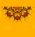 mandala pattern on orange background vector image vector image