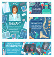 medical clinic and therapist doctor vector image