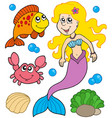 mermaid collection vector image