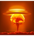 Nuclear explosion with dust vector image vector image
