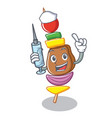 nurse barbecue character cartoon style vector image