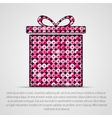 pink sequin gift box Eps 10 vector image vector image