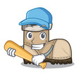 playing baseball working boots isolated on the vector image vector image