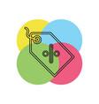 price label icon vector image