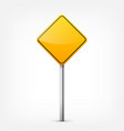 Road yellow signs collection isolated on white vector image