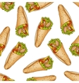 Seamless pattern color burrito vector image vector image