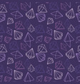 seamless pattern jewels diamond vector image