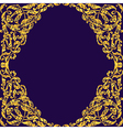 Seamless with vintage gold baroque ornament Can vector image
