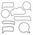 set of stickers of speech bubbles blank empty vector image vector image