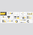 set yellow grey and black elements vector image vector image