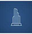 Skyscraper office building line icon vector image vector image