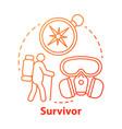 survivor red concept icon remaining alive idea vector image vector image