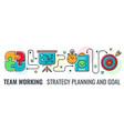 teamwork strategy planning banner vector image