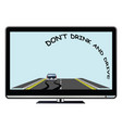 television advertisement do not drink drive vector image vector image