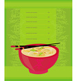 template of traditional Japanese food menu vector image vector image