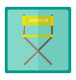 the film director chair vector image vector image