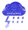 thunderstorm grunge textured icon vector image