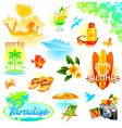 Tropical resort travel vector | Price: 5 Credits (USD $5)