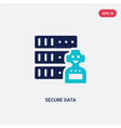 two color secure data icon from artificial vector image vector image