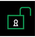 unlocked icon vector image