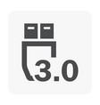 usb data icon vector image