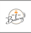 vintage bakery stamp unique embroidery vector image vector image