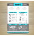 Vintage seafood menu design vector image vector image