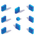 volumetric 3d style isometric blue english letter vector image vector image