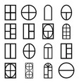 window icon set vector image vector image