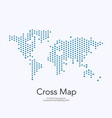 world map with crosses for business vector image vector image