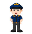 young policeman cartoon vector image
