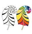 Zentangle stylized tribal rainbow color and vector image