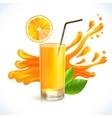 Orange juice splash vector image