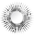frame with black dots vector image
