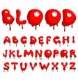 blood alphabet vector image