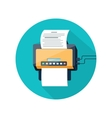 Fax icon with paper page vector image