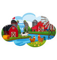 a farm animal scene vector image vector image