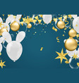 abstract happy new year background place for vector image vector image