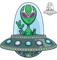 Alien Flying Saucer vector image vector image